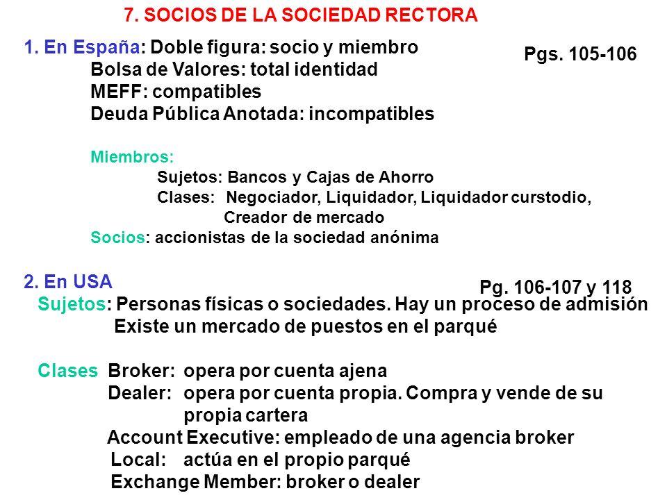 7. SOCIOS DE LA SOCIEDAD RECTORA 1.