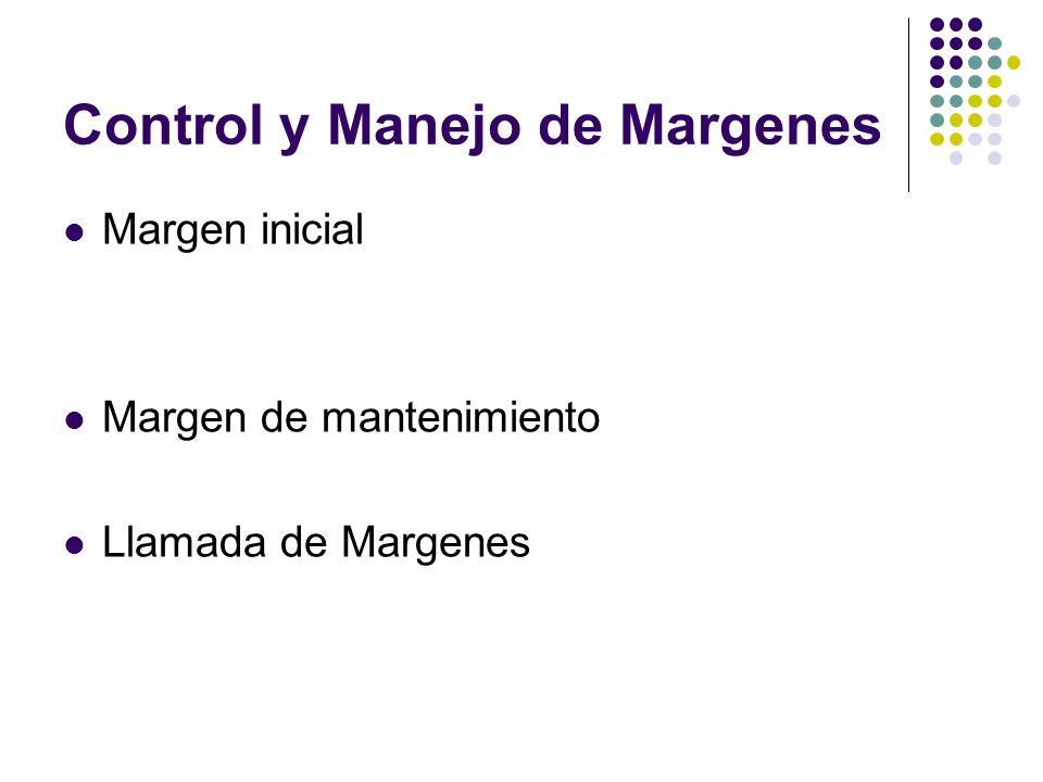Control y Manejo de Margenes Margen inicial Margen de mantenimiento Llamada de Margenes
