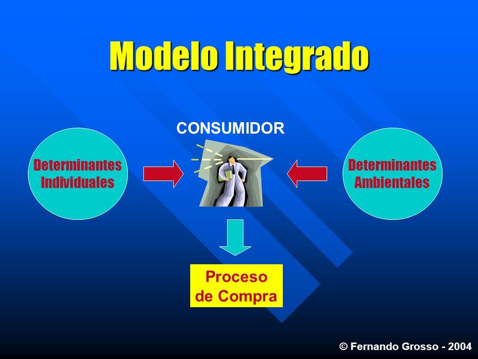 Modelo Integrado Proceso de Compra CONSUMIDOR Determinantes Individuales Determinantes Ambientales © Fernando Grosso - 2004