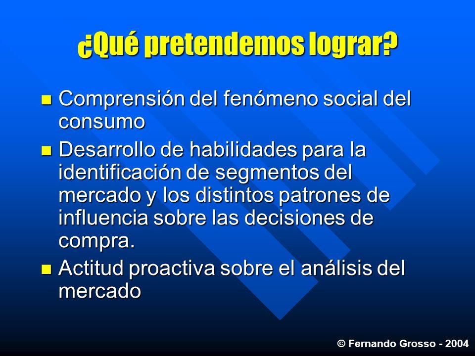 ¿Qué pretendemos lograr? Comprensión del fenómeno social del consumo Comprensión del fenómeno social del consumo Desarrollo de habilidades para la ide