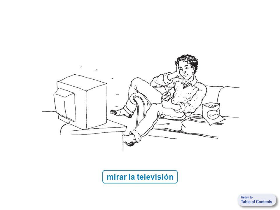 mirar la televisión