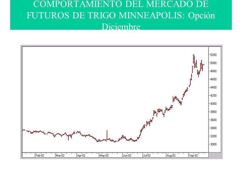 COMPORTAMIENTO DEL MERCADO DE FUTUROS DE TRIGO MINNEAPOLIS: Opción Diciembre