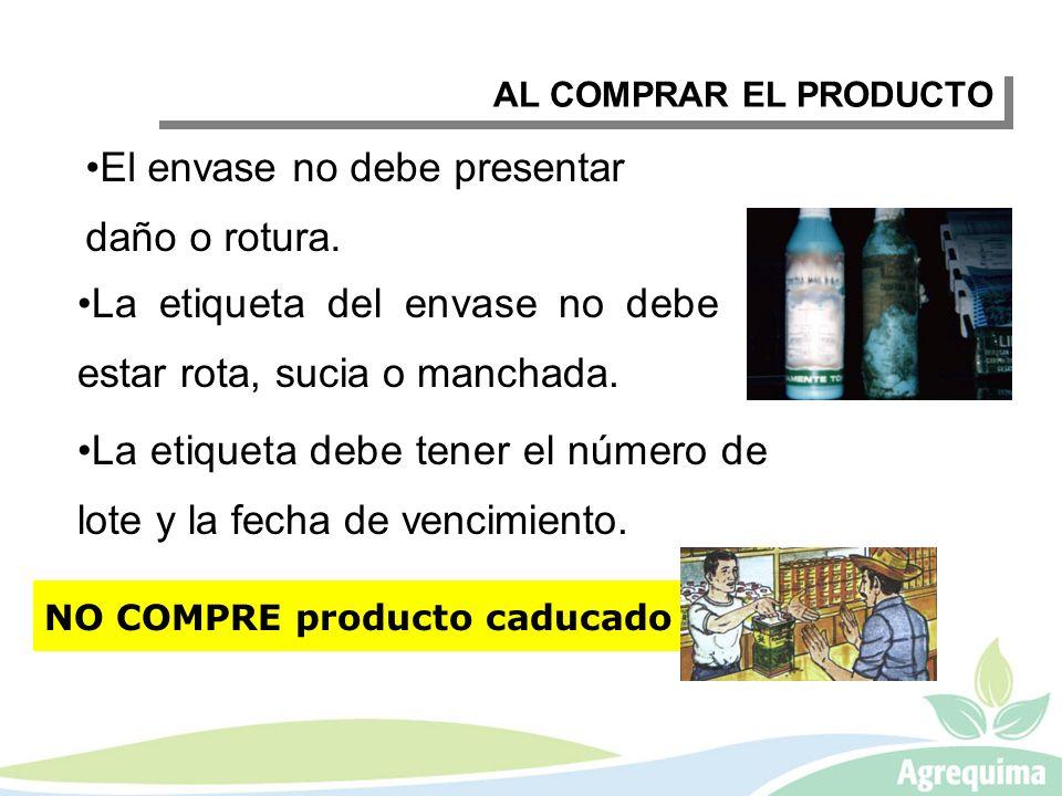 AL TRANSPORTAR EL PRODUCTO PARA LA PROTECCIÓN DE CULTIVOS C.