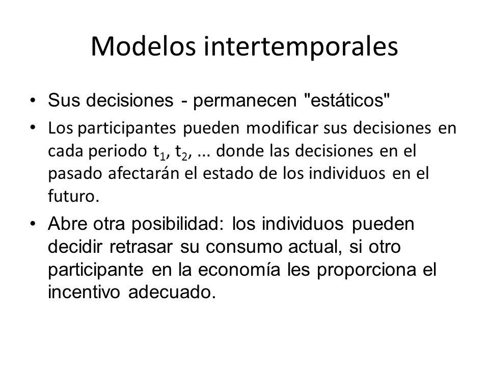 Modelos intertemporales Sus decisiones - permanecen
