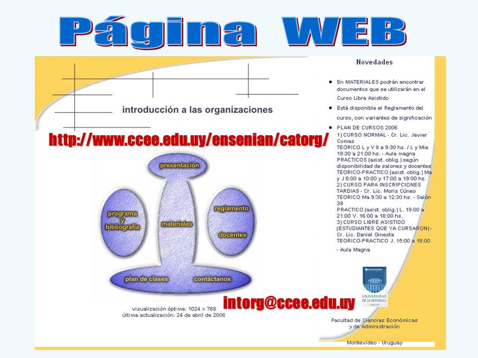 intorg@ccee.edu.uy http://www.ccee.edu.uy/ensenian/catorg/