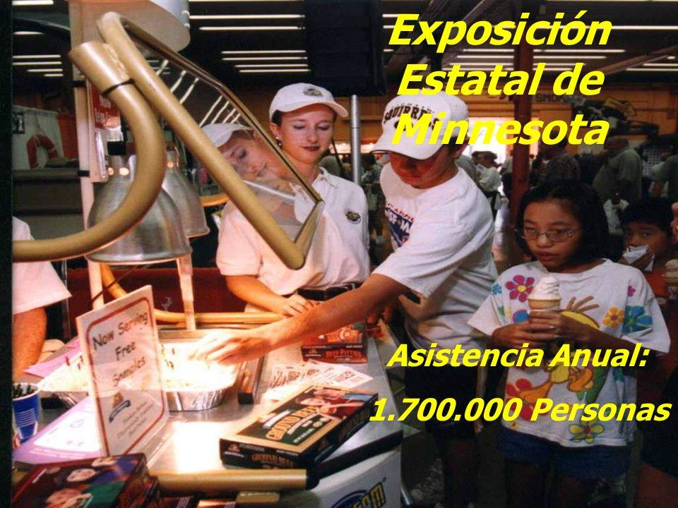 Exposición Estatal de Minnesota Asistencia Anual: 1.700.000 Personas