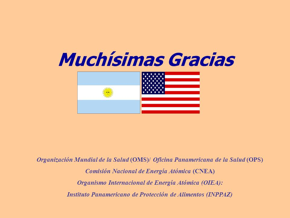 Organización Mundial de la Salud (OMS)/ Oficina Panamericana de la Salud (OPS) Comisión Nacional de Energía Atómica (CNEA) Organismo Internacional de