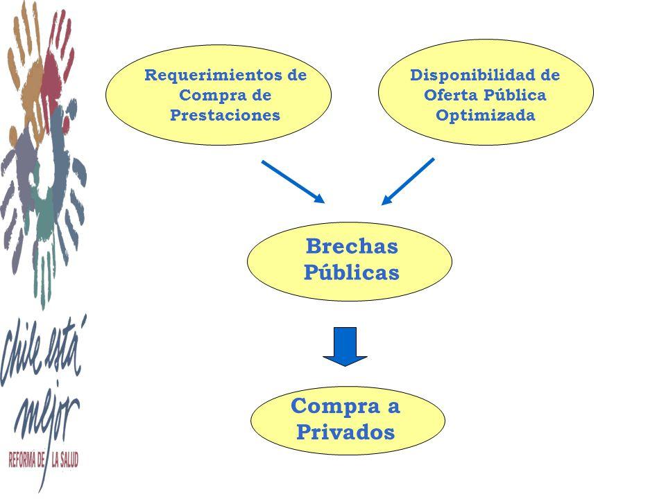 Disponibilidad de Oferta Pública Optimizada Requerimientos de Compra de Prestaciones Brechas Públicas Compra a Privados