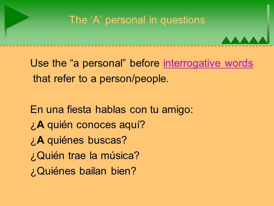Las palabras indefinidas y negativas 1.English: I do not know anyone.