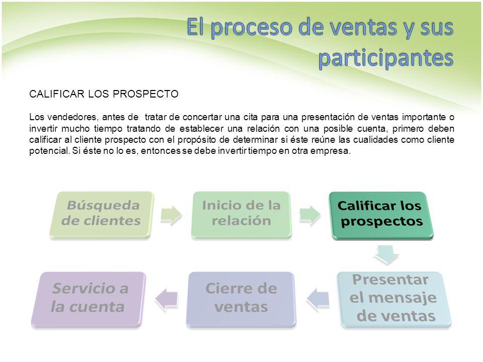 PRESENTAR EL MENSAJE DE VENTAS La presentación de la venta es la parte medular del proceso.