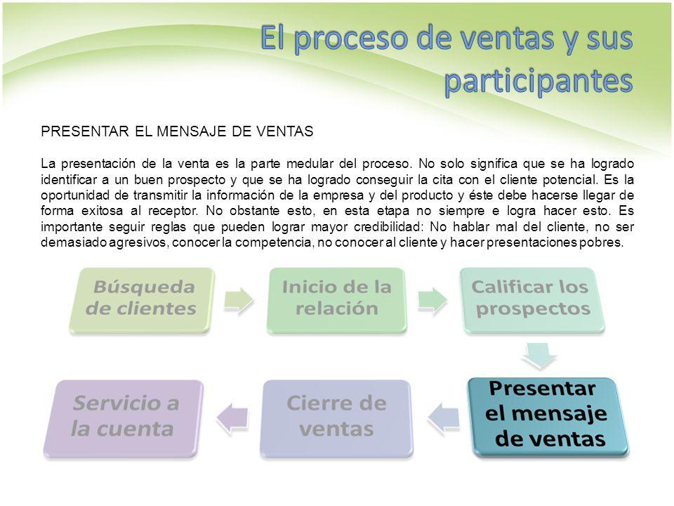 CIERRE DE VENTAS Culminar la venta significa obtener el consentimiento final del cliente para una compra.