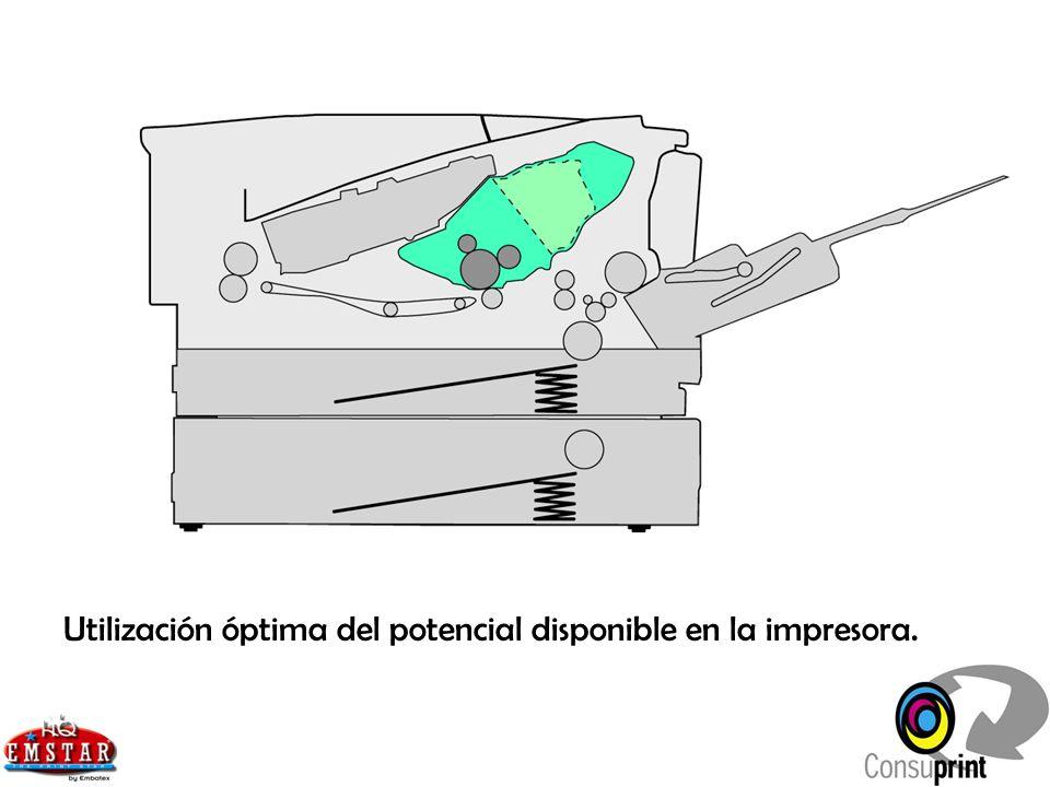 3.1.3 Capacidad de utilización Los tóners y depósitos de tóner deben estar completamente cerrados, para que durante el almacenaje y transporte no exista pérdida de material.