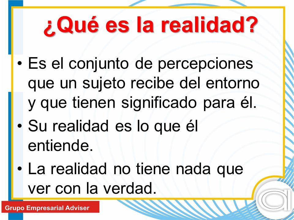 ¿Qué es la realidad.