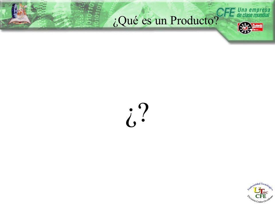 ¿Qué es un Producto ¿