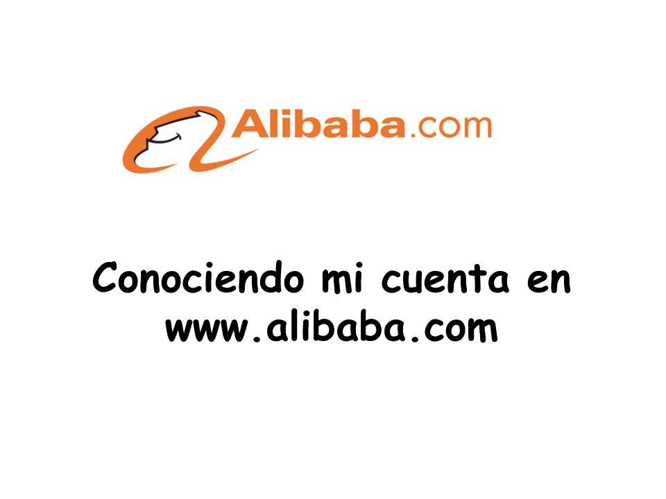 Conociendo mi cuenta en www.alibaba.com