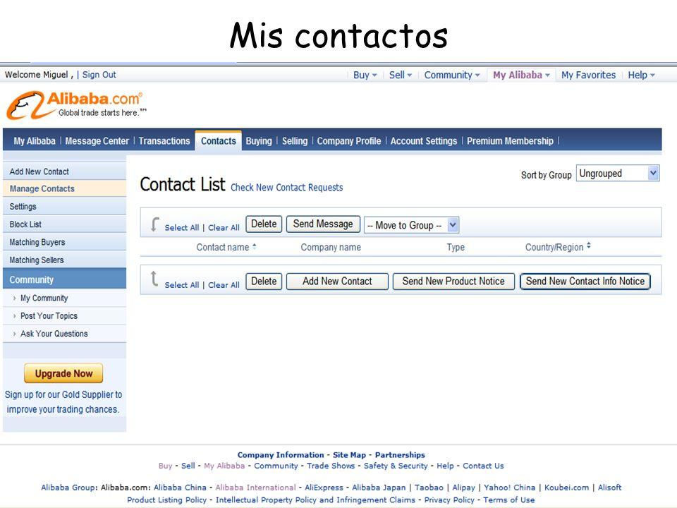 Mis contactos