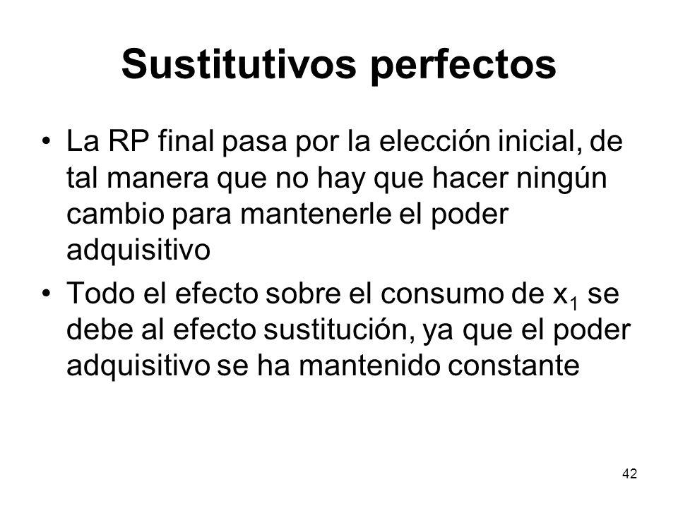 42 Sustitutivos perfectos La RP final pasa por la elección inicial, de tal manera que no hay que hacer ningún cambio para mantenerle el poder adquisit