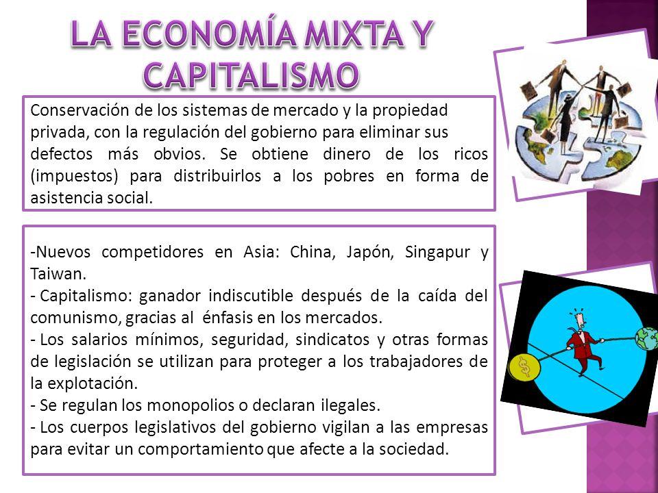 -Nuevos competidores en Asia: China, Japón, Singapur y Taiwan. - Capitalismo: ganador indiscutible después de la caída del comunismo, gracias al énfas