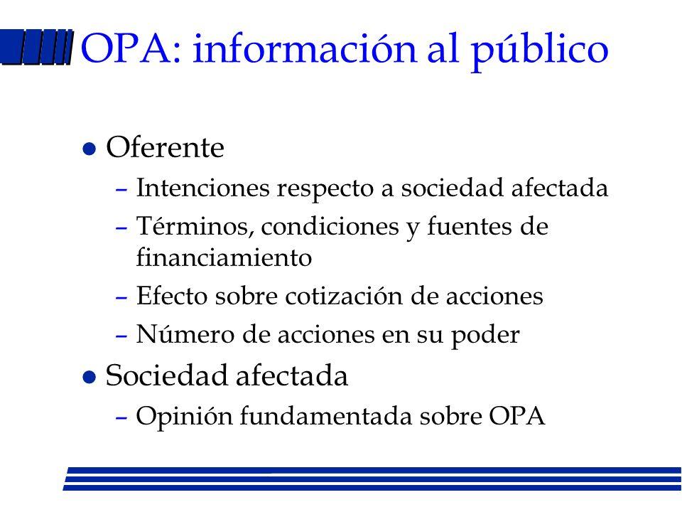 LMC: oferta pública de adquisición l Artículo 109 –Cuando se pretende adquirir un volumen de acciones inscritas en bolsa para alcanzar participación s