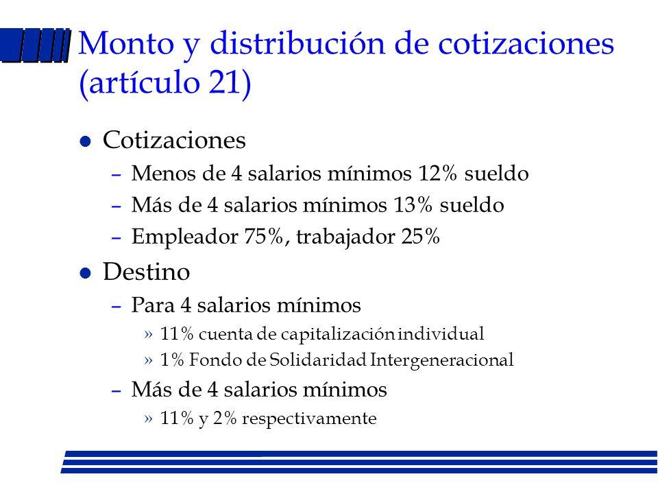 Decreto Ley No. 2993 del 4/11/98 l Artículo 1 : regímenes de capitalización individual y solidaridad intergeneracional l Artículo 9: trabajador selecc