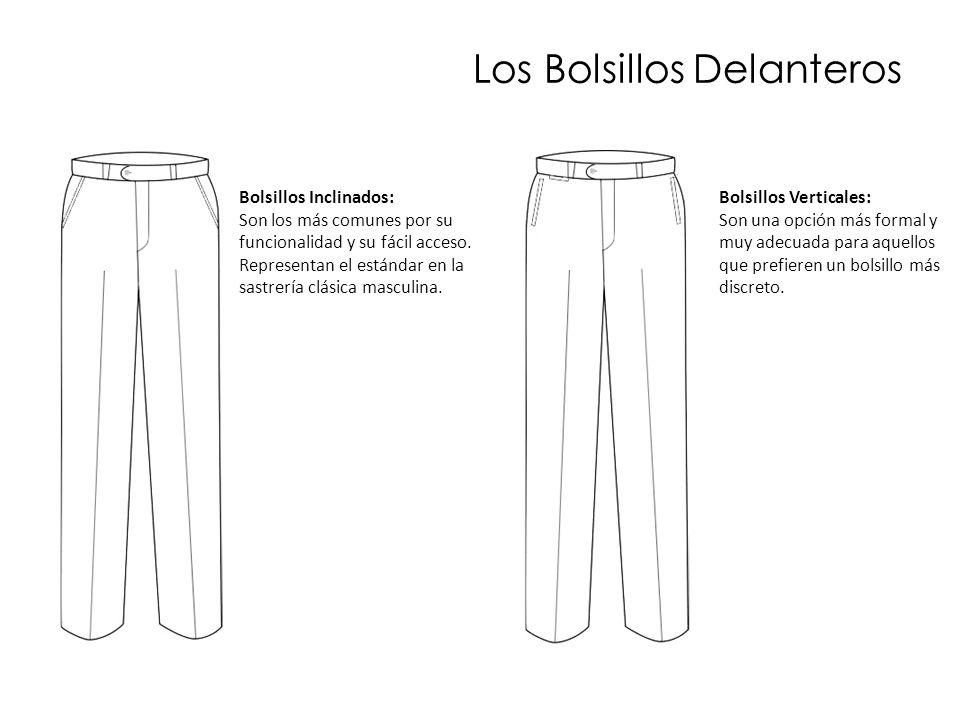 Los Bolsillos Delanteros Bolsillos Inclinados: Son los más comunes por su funcionalidad y su fácil acceso. Representan el estándar en la sastrería clá