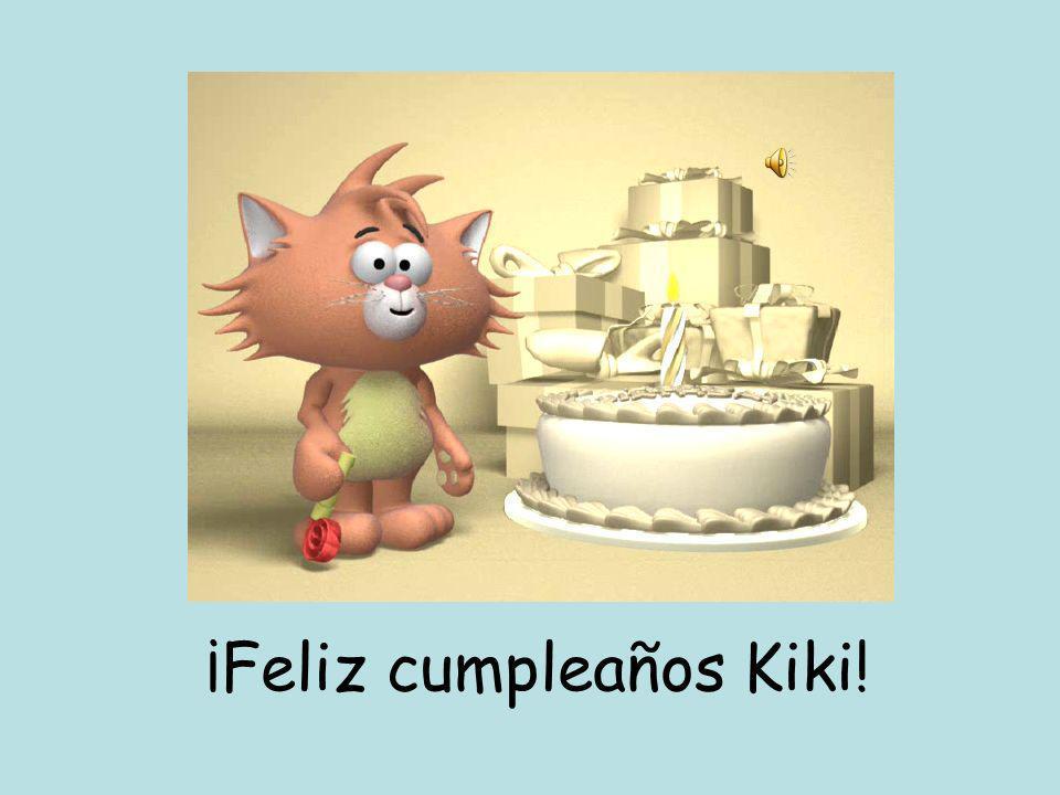 Pablo el caballo, Ana la tortuga y Bilbo el conejo van al supermercado para comprar un pastel para el cumpleaños de Kiki el gato.