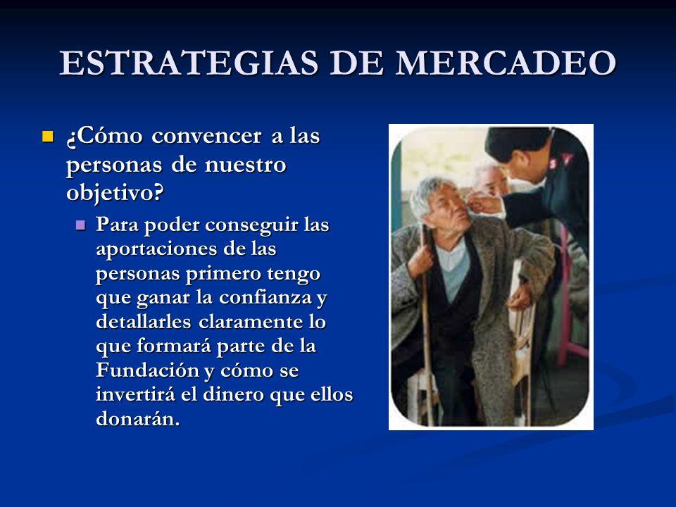 ESTRATEGIAS DE MERCADEO ¿Cómo convencer a las personas de nuestro objetivo? ¿Cómo convencer a las personas de nuestro objetivo? Para poder conseguir l