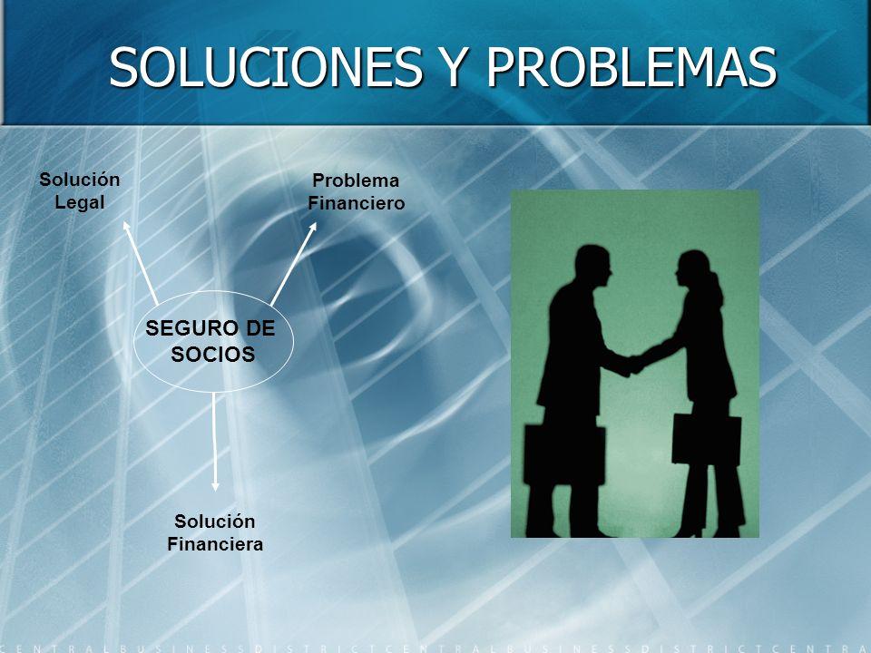 SOLUCIONES Y PROBLEMAS SEGURO DE SOCIOS Solución Legal Problema Financiero Solución Financiera