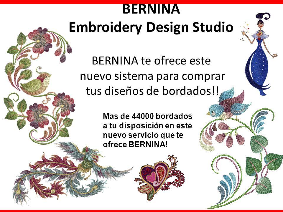 BERNINA Embroidery Design Studio BERNINA te ofrece este nuevo sistema para comprar tus diseños de bordados!! Mas de 44000 bordados a tu disposición en