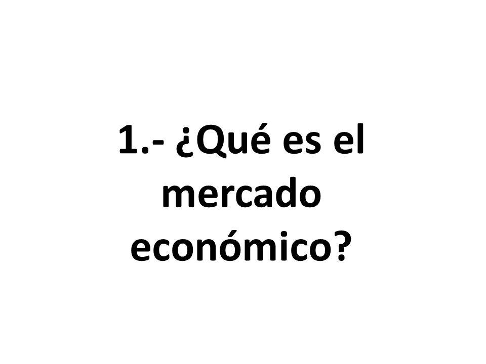 1.- ¿Qué es el mercado económico?