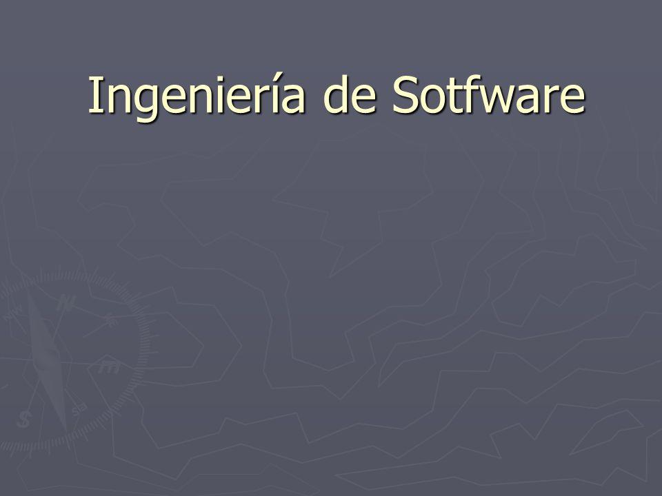 Ingeniería de Sotfware