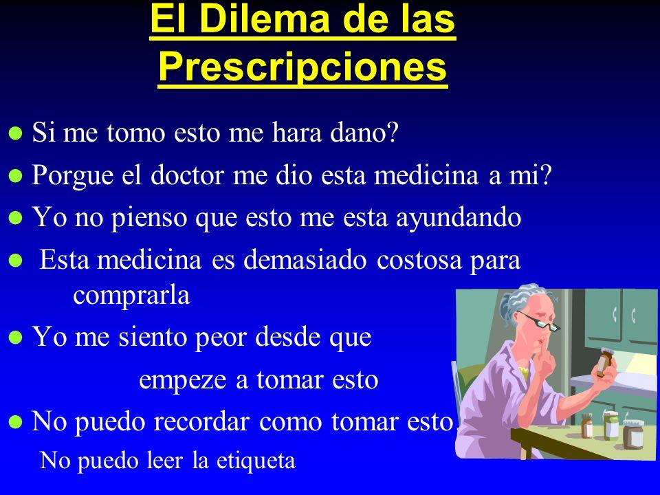 El Dilema de las Prescripciones Si me tomo esto me hara dano.