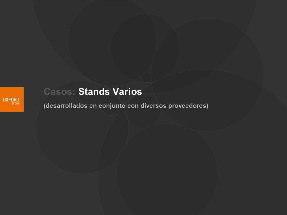 Casos: Stands Varios (desarrollados en conjunto con diversos proveedores)