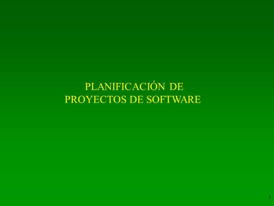 1 PLANIFICACIÓN DE PROYECTOS DE SOFTWARE