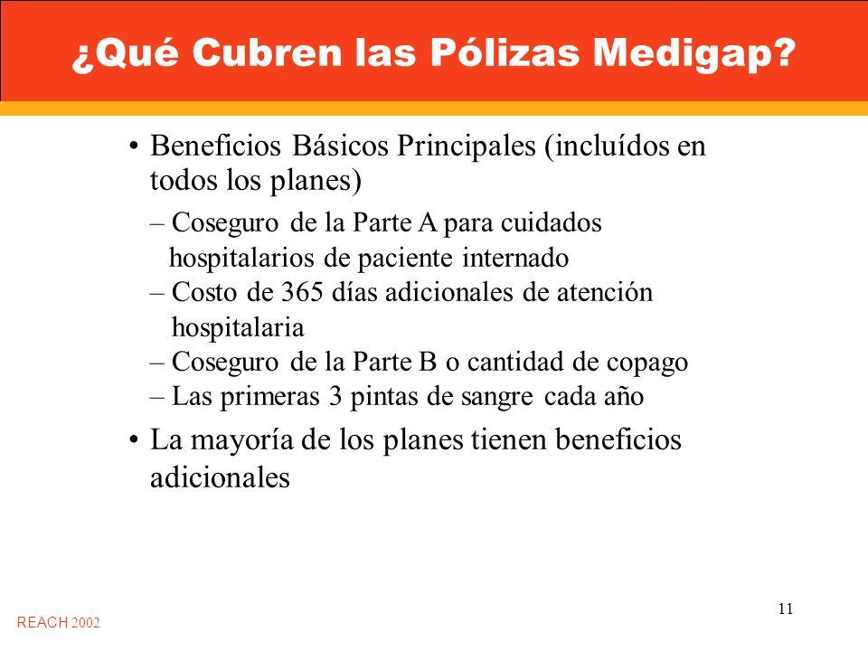11 ¿Qué Cubren las Pólizas Medigap.