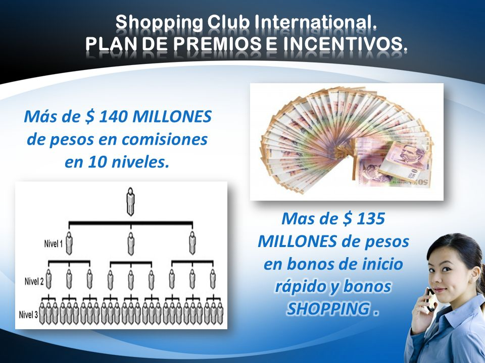 LOGO PLAN DE COMPENSACION Shopping Club International. 5. POR DARNOS INFORMACION SOBRE TUS COMPRAS.