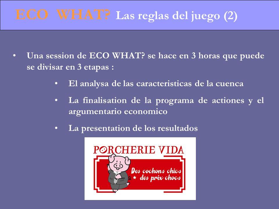 ECO WHAT. Las reglas del juego (2) Una session de ECO WHAT.