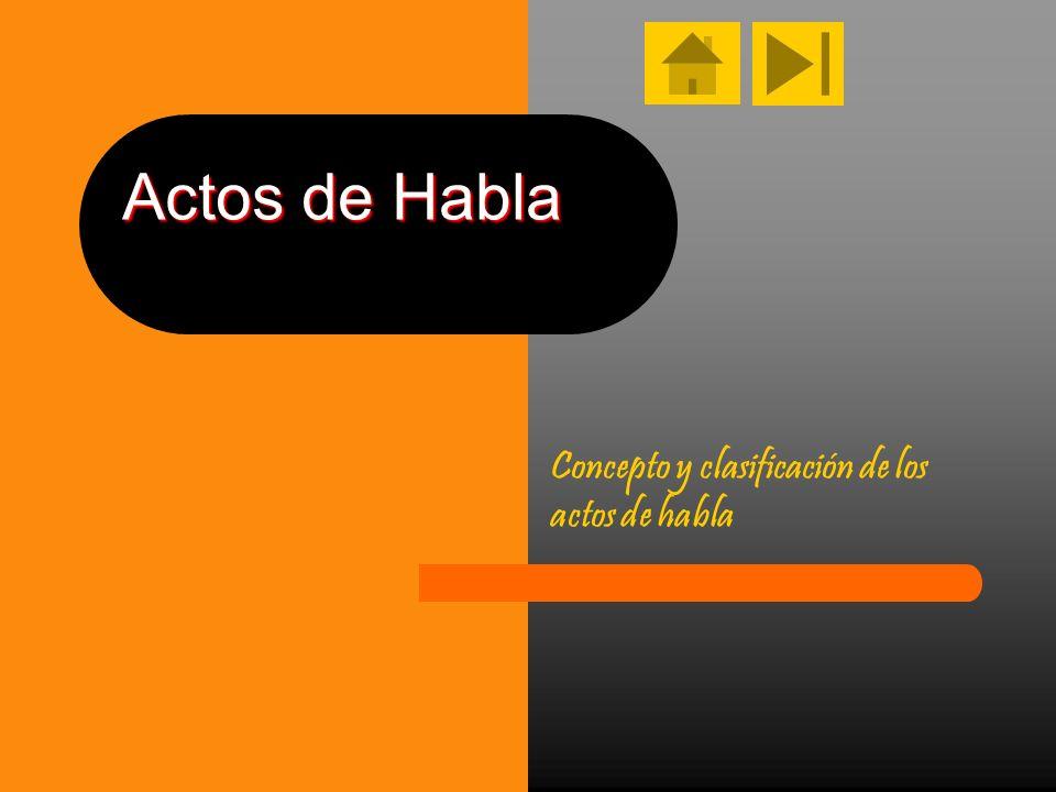 Actos de Habla Concepto y clasificación de los actos de habla