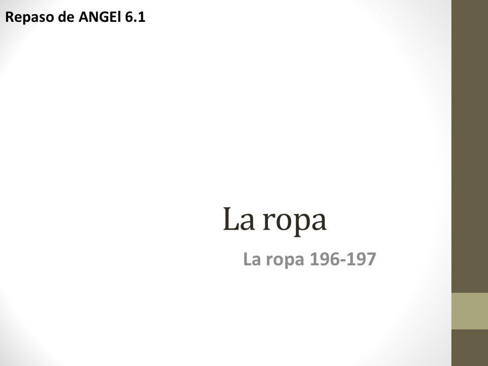La ropa La ropa 196-197 Repaso de ANGEl 6.1
