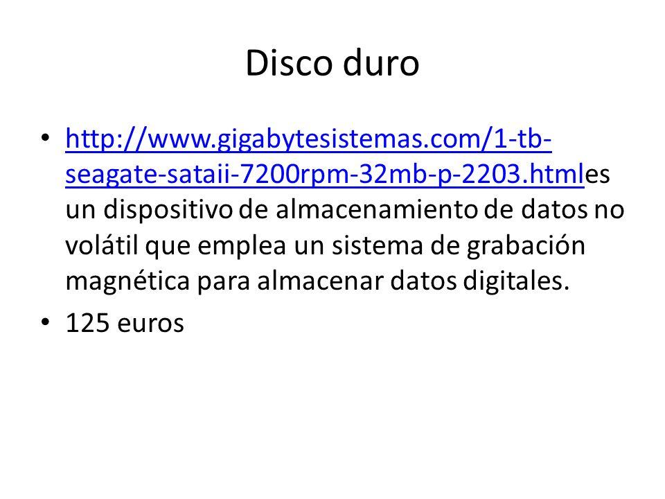 Disco duro http://www.gigabytesistemas.com/1-tb- seagate-sataii-7200rpm-32mb-p-2203.htmles un dispositivo de almacenamiento de datos no volátil que em