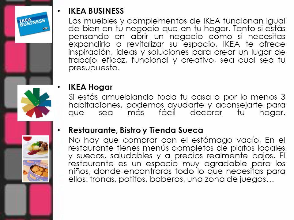 IKEA BUSINESS Los muebles y complementos de IKEA funcionan igual de bien en tu negocio que en tu hogar. Tanto si estás pensando en abrir un negocio co