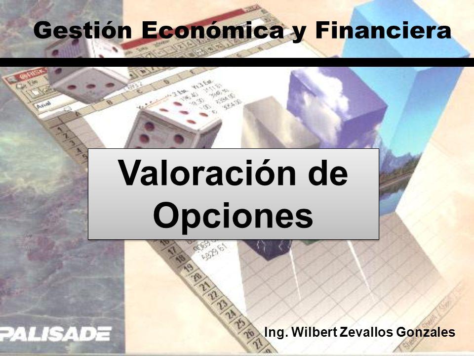 Gestión Económica y Financiera Valoración de Opciones Ing. Wilbert Zevallos Gonzales