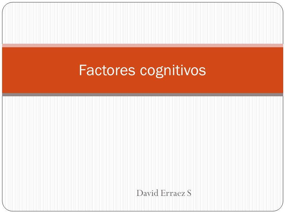 David Erraez S Factores cognitivos