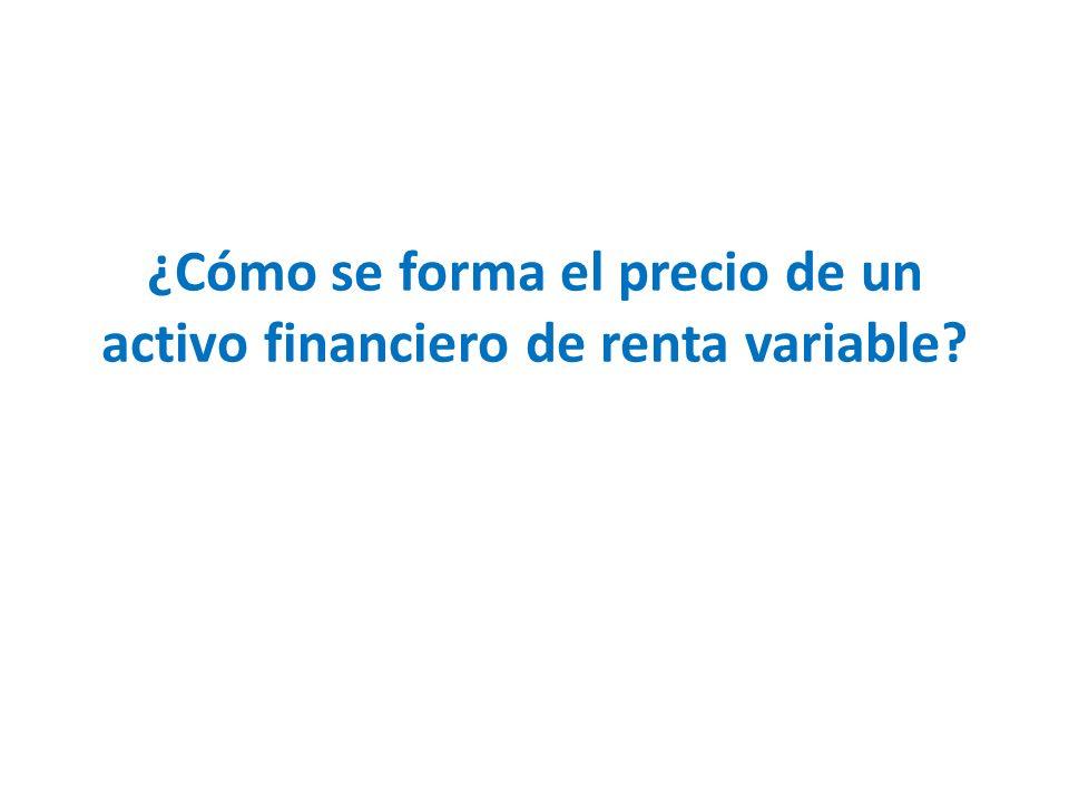 ¿Cómo se forma el precio de un activo financiero de renta variable?