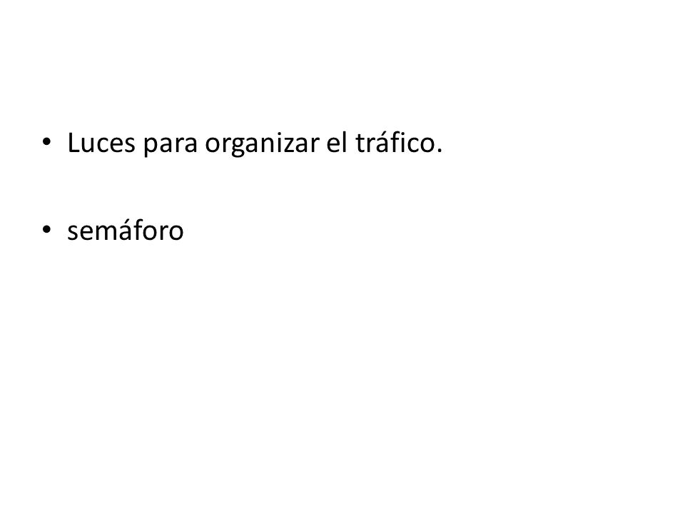 Luces para organizar el tráfico. semáforo