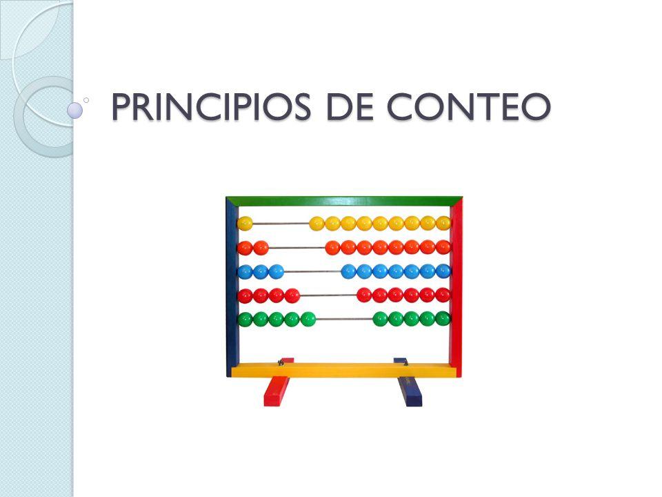 PRINCIPIOS DE CONTEO
