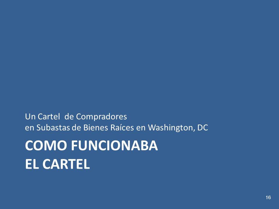 COMO FUNCIONABA EL CARTEL Un Cartel de Compradores en Subastas de Bienes Raíces en Washington, DC 16