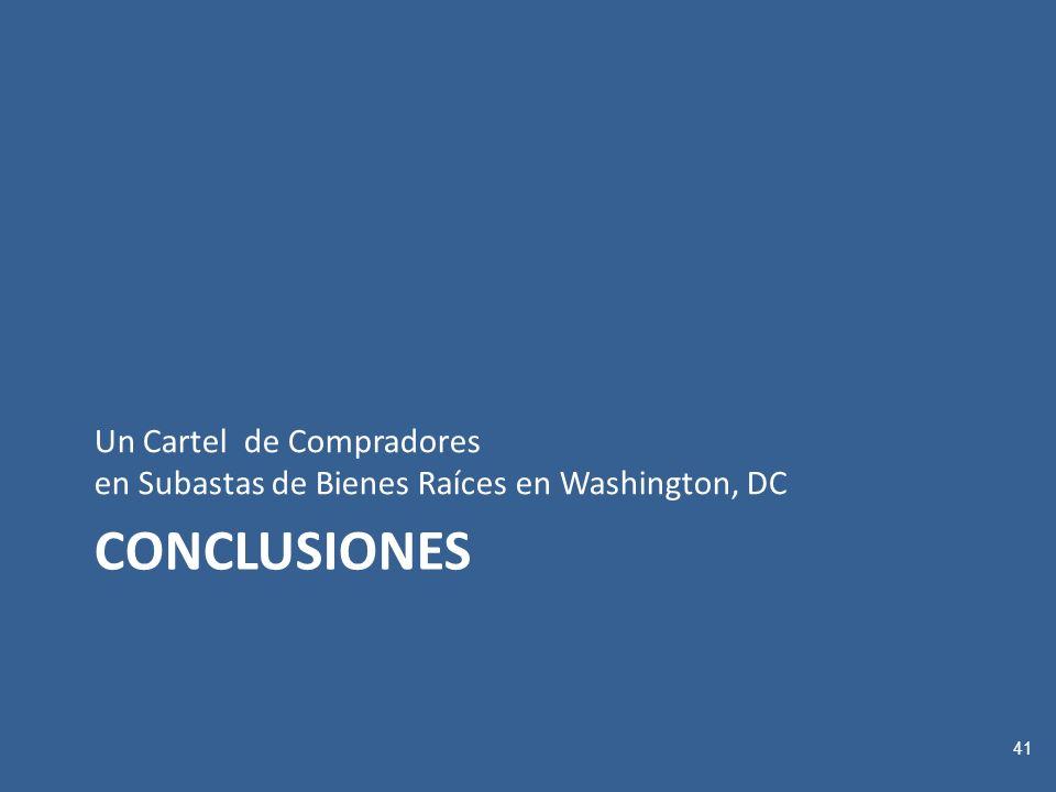 CONCLUSIONES Un Cartel de Compradores en Subastas de Bienes Raíces en Washington, DC 41