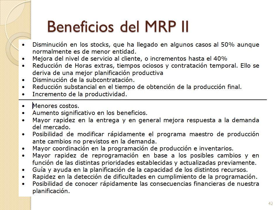 Beneficios del MRP II 42