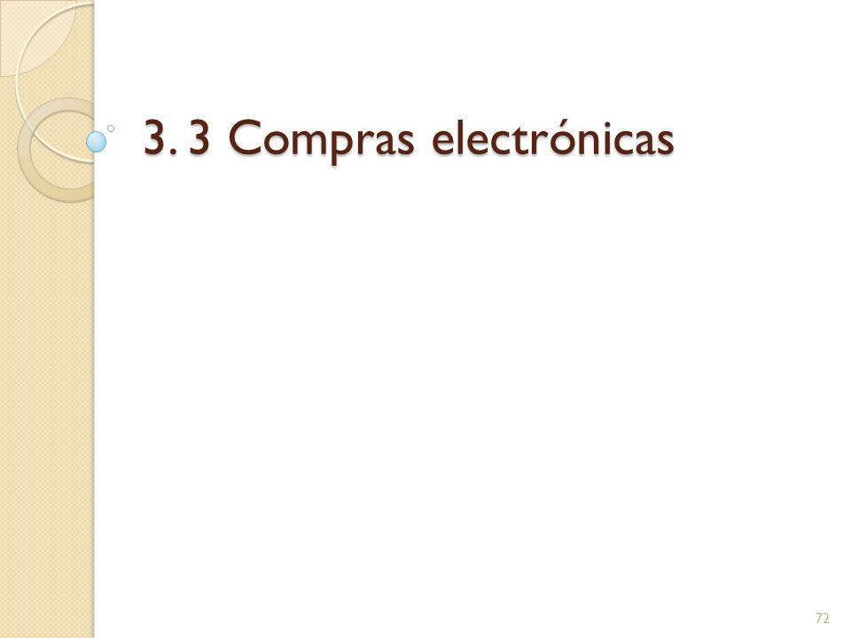 3. 3 Compras electrónicas 72